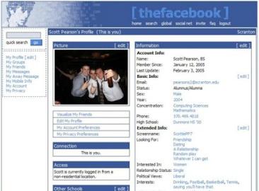 The facebook 2005